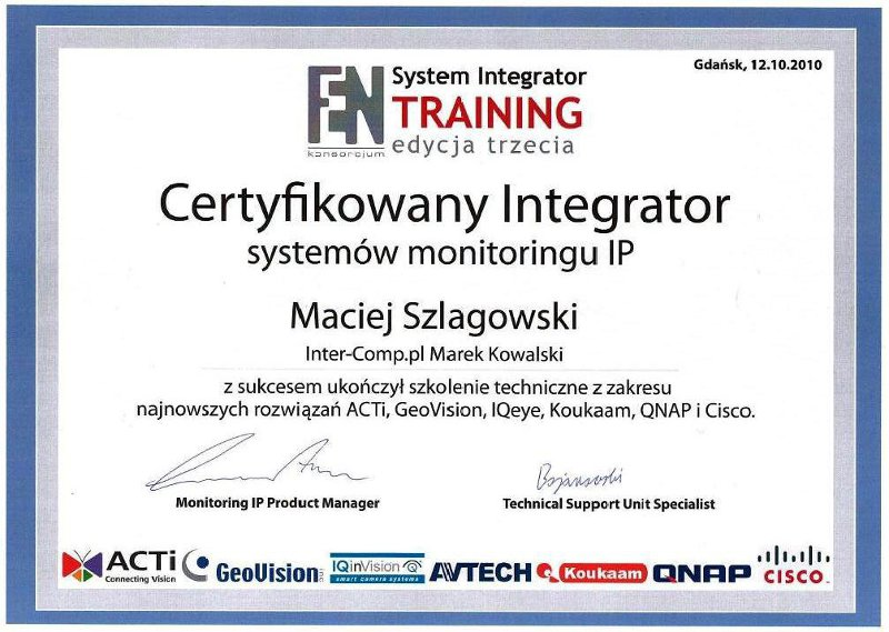 FEN - certyfikat