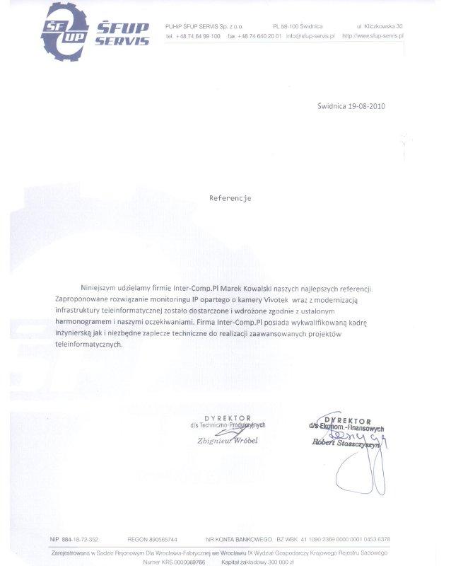 SFUP - referencje
