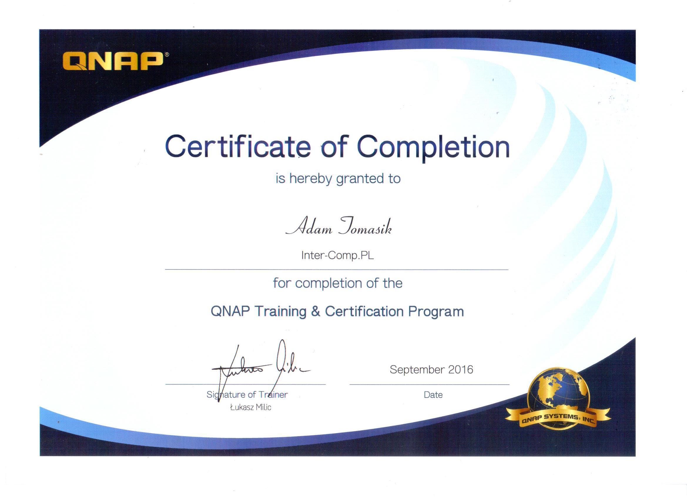 QNAP_certyfikat